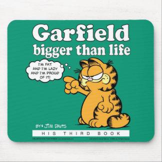 Garfield más grande que la vida Mousepad Alfombrillas De Ratón