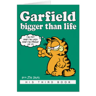 Garfield más grande que tarjeta de nota de la vida