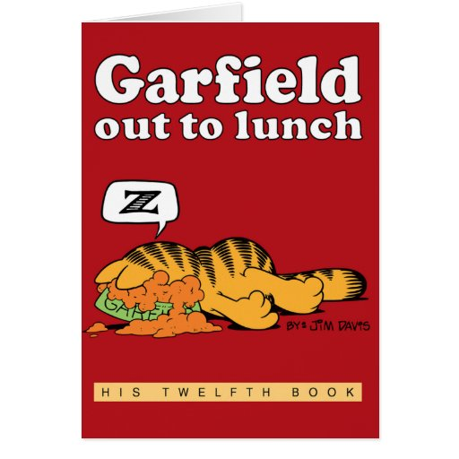 Garfield Out To Lunch Note Card
