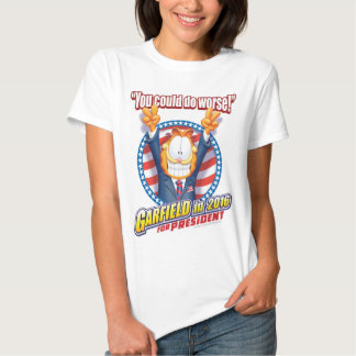 Garfield para el presidente en 2016 camisas
