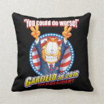Garfield para el presidente en 2016 cojín decorativo