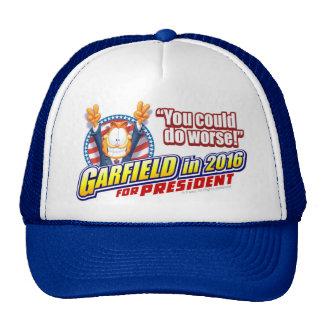 Garfield para el presidente en 2016 gorro de camionero
