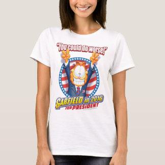 Garfield para el presidente en 2016 playera