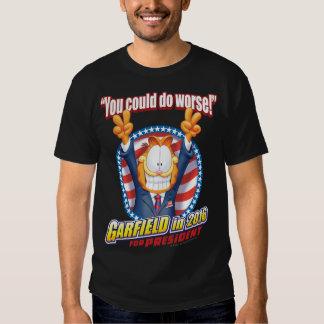 Garfield para el presidente en 2016 remera