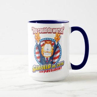 Garfield para el presidente en 2016 taza