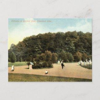 Garfield Park, Cleveland Ohio 1910 vintage Post Card