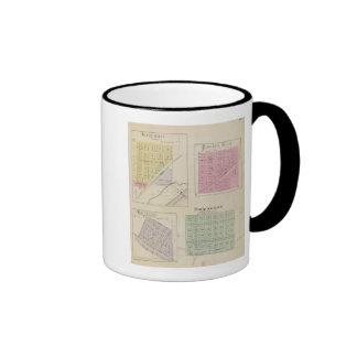 Garfield, Pawnee Rock, Heizer, Hoisington, Kansas Ringer Coffee Mug