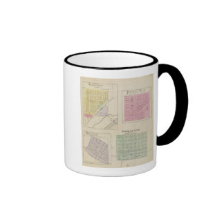 Garfield, Pawnee Rock, Heizer, Hoisington, Kansas Ringer Mug