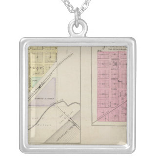 Garfield, Pawnee Rock, Heizer, Hoisington, Kansas Silver Plated Necklace