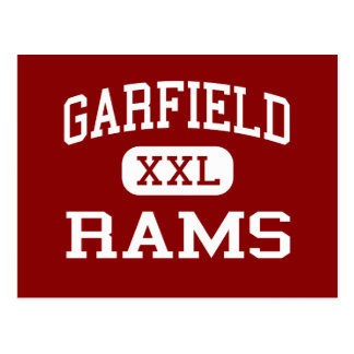 Garfield - Rams - High School - Akron Ohio Postcard