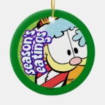 Garfield Season's Eatings PERSONALIZED Ornament