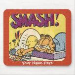 Garfield Smashing Clock mousepad