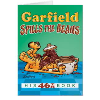 Garfield Spills The Beans Note Card