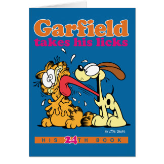 Garfield Takes His Licks Note Card
