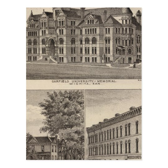 Garfield University, Kansas Postcard