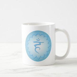 Garganta Chakra - azul claro Taza De Café