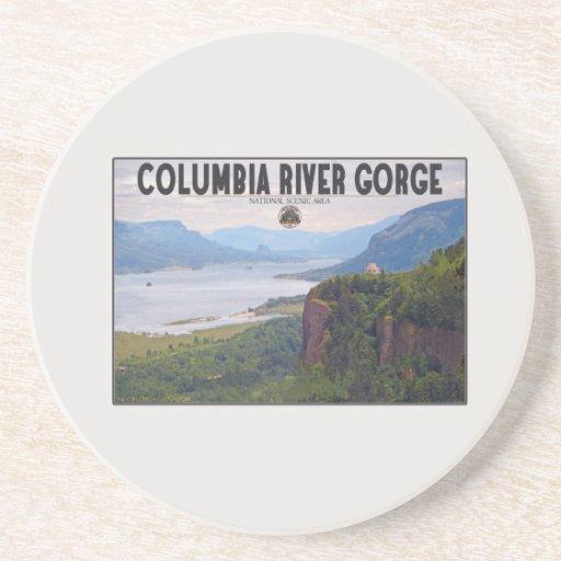 Garganta de Columbia - corona Point.jpg Posavasos Personalizados