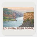 Garganta de Columbia - meseta W.jpg de Rowena Calcomanía Cuadradas Personalizada