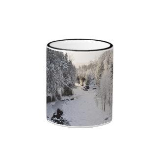 Garganta de la perspectiva en invierno taza de dos colores