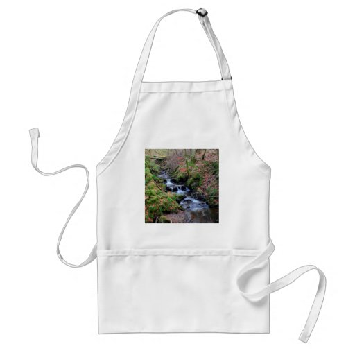 Garganta de River Valley del agua Delantal