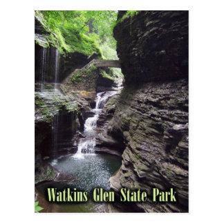 Garganta en el parque de estado de la cañada de tarjeta postal