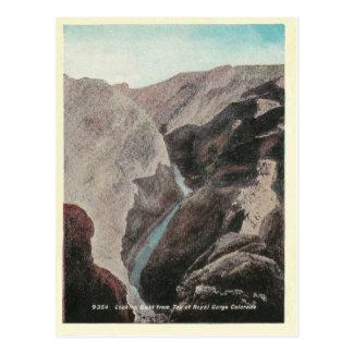 Garganta real de Colorado del vintage Postales