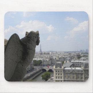 Gargoyle Atop Notre Dame Mouse Pad