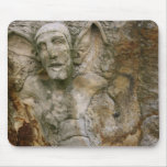 Gargoyle Carving on Stone Mouse Pad