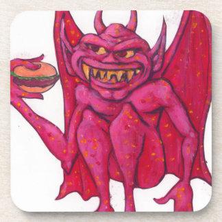 Gargoyle con la hamburguesa posavasos de bebidas
