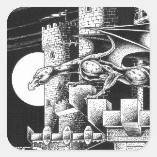 Gargoyle Creature Square Sticker