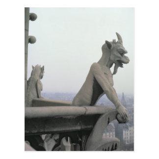 Gargoyle de la barandilla del grande postales