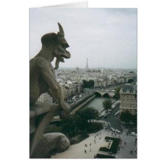 Gargoyle de Notre Dame Tarjeta De Felicitación