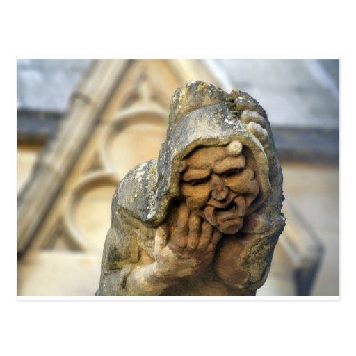 Gargoyle de Oxford Tarjeta Postal
