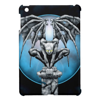 Gargoyle de piedra con la luna azul iPad mini carcasa