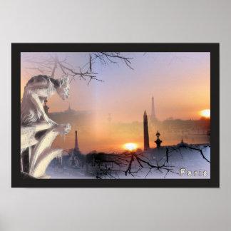Gargoyle de plata de Notre Dame, impresión Póster