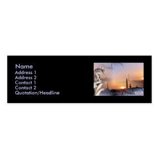 Gargoyle de plata, plantilla tarjetas de visita mini