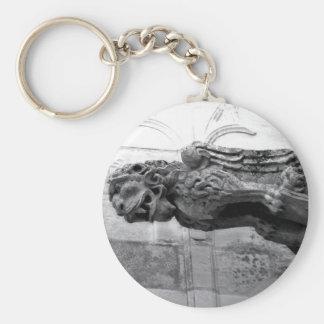 Gargoyle del león del hombre llavero redondo tipo pin