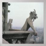 Gargoyle from the balustrade of the Grande Poster