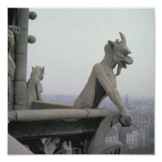 Gargoyle from the balustrade of the Grande Poster