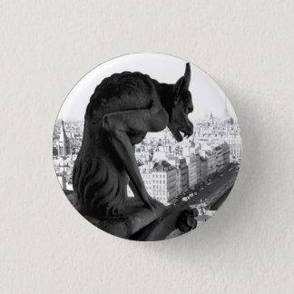 Gargoyle Gothic Button Pin