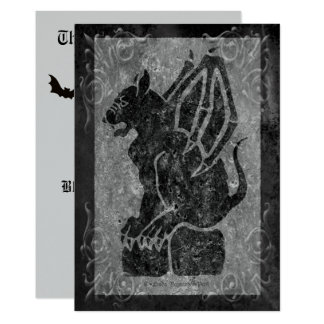 Gargoyle Gray Scrolls Card