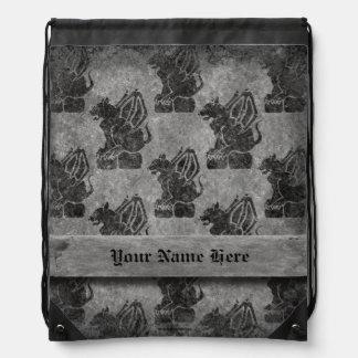 Gargoyle Gray Stone Drawstring Bag