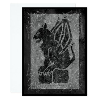Gargoyle Gray Stone Scrolls Card