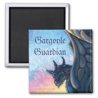 Gargoyle Guardian 2 Inch Square Magnet