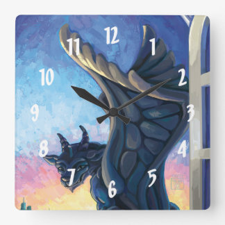 Gargoyle Guardian Square Wall Clock