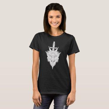 Halloween Themed Gargoyle Illustration T-Shirt