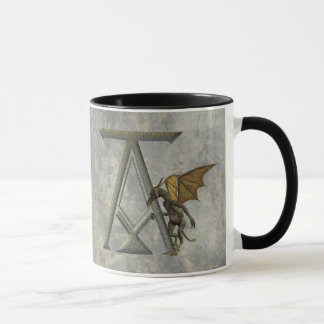 Gargoyle Monogram A Mug