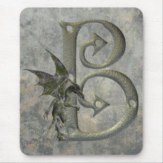 Gargoyle Monogram B Mouse Pad
