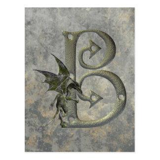 Gargoyle Monogram B Postcard