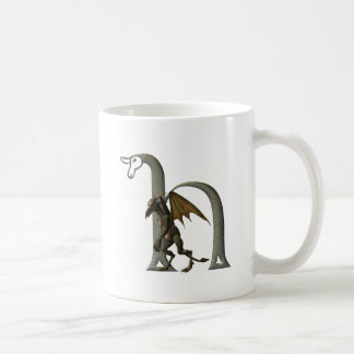 Gargoyle Monogram H Classic White Coffee Mug